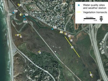 Los Penasquititos Lagoon Monitoring site map