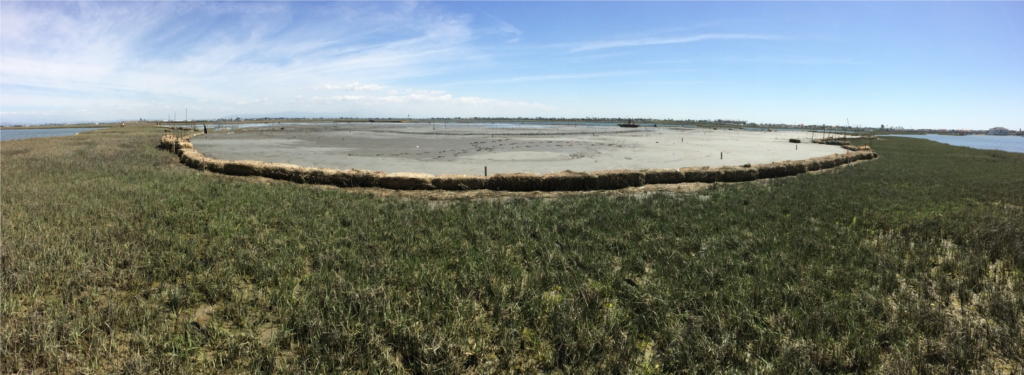 Seal Beach Sedimentation Augmentation Project. Panoramic view of the site following completion of sediment augmentation.
